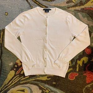 Ralph Lauren Cardigan Sweater | Medium | White